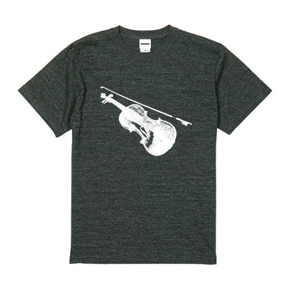 WTM クラシカルTシャツ Violin ヘザーブラック
