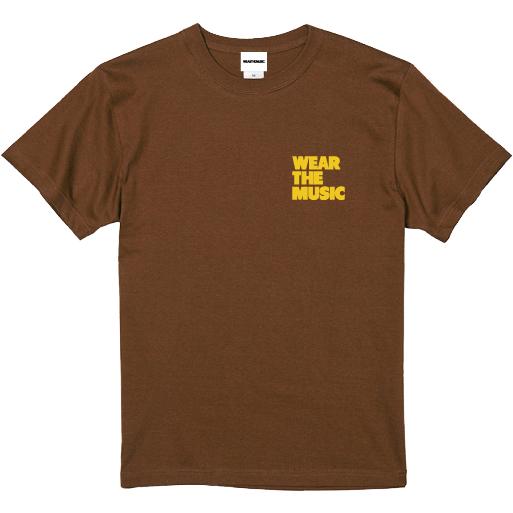 WTM Tシャツ MUSIC BASKET(ダークブラウン)