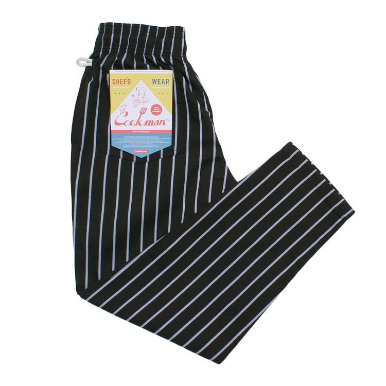 Chef Pants PIN STRIPE T/C BLACK