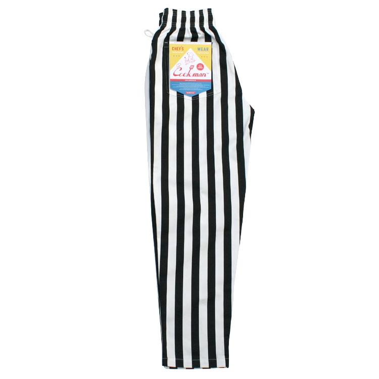 Chef Pants wide stripe BLACK