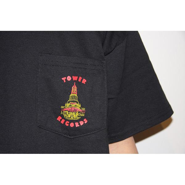 WTM ポケット Tシャツ TOWER THEATER(ブラック)