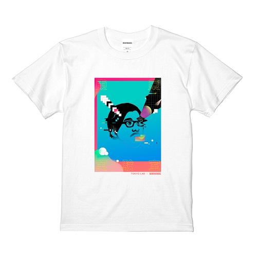 TOKYO LAB × WEARTHEMUSIC Tシャツ(ホワイト)