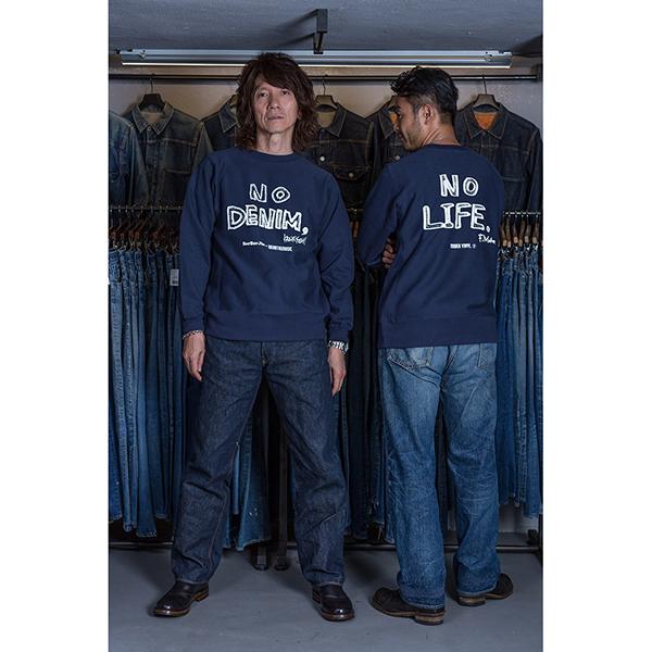 BerBerJin × 吉井和哉 × WEARTHEMUSIC N.D.N.L. Heavy Weight Sweat Crew (Vintage Navy)