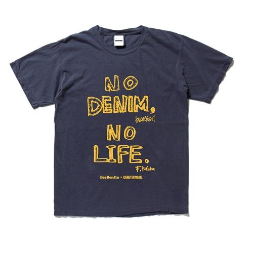 BerBerJin × 吉井和哉 × WEARTHEMUSIC N.D.N.L. T-Shirt(Vintage Navy)