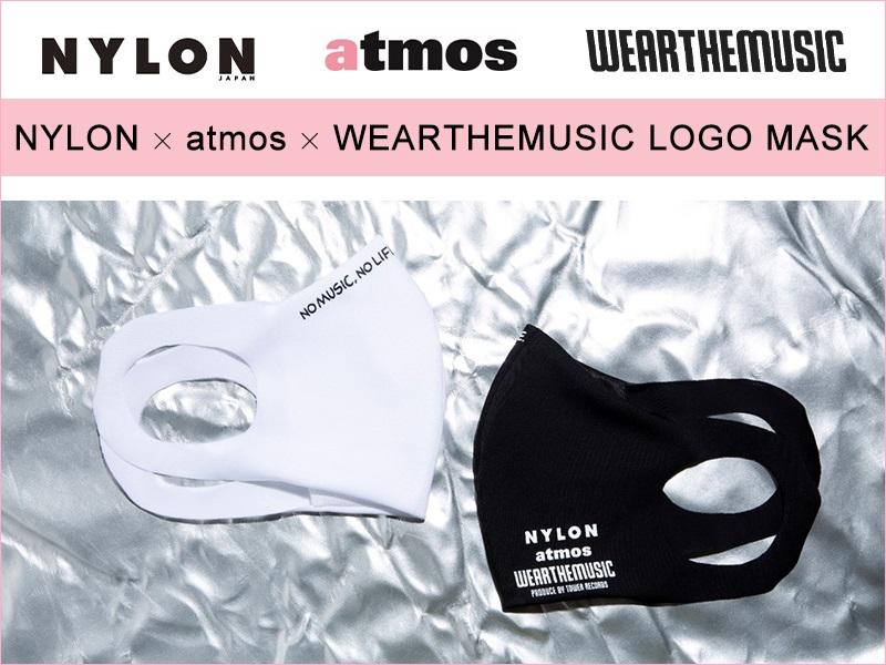 NYLON × atmos pink × WEARTHEMUSIC LOGO MASK