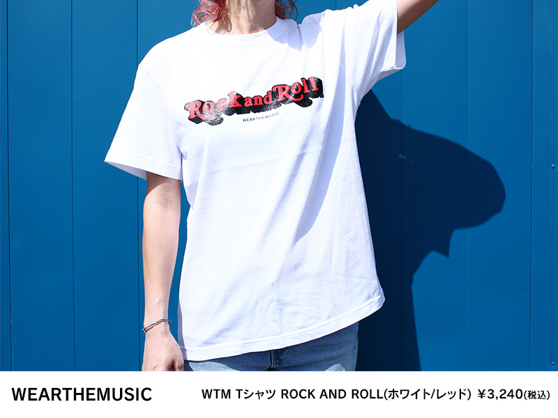 WTM Tシャツ ROCK AND ROLL(ホワイト/レッド)