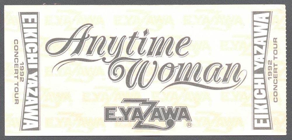 Anytime Woman EIKICHI YAZAWA CONCERT TOUR 1992