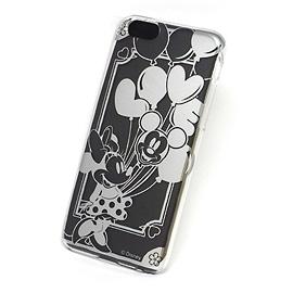 ディズニー iPhone6 カスタムカバー シルバー (ミッキー)