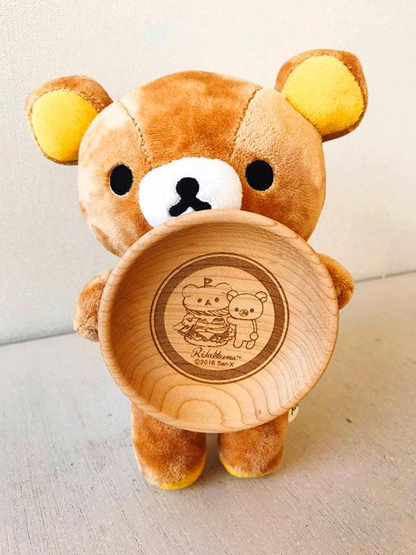 リラックマたちとのシェア用木製プレート(豆皿)